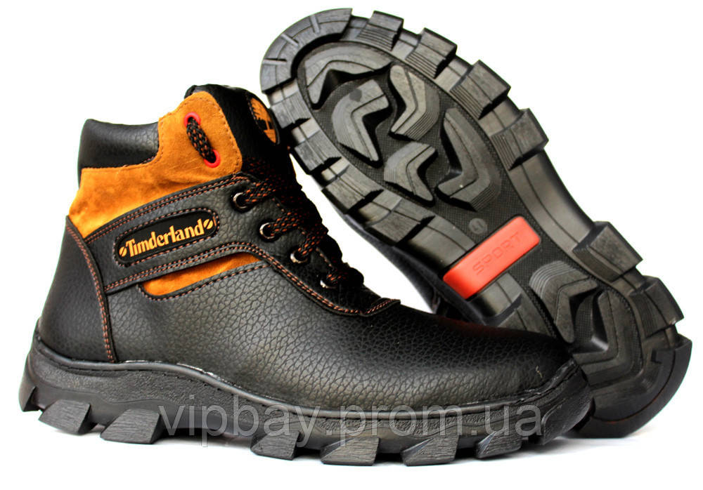 ... Чоловічі черевики зимові на хутрі в стилі Timberland (СГБ-15ч) 4 ... 0421663684f72