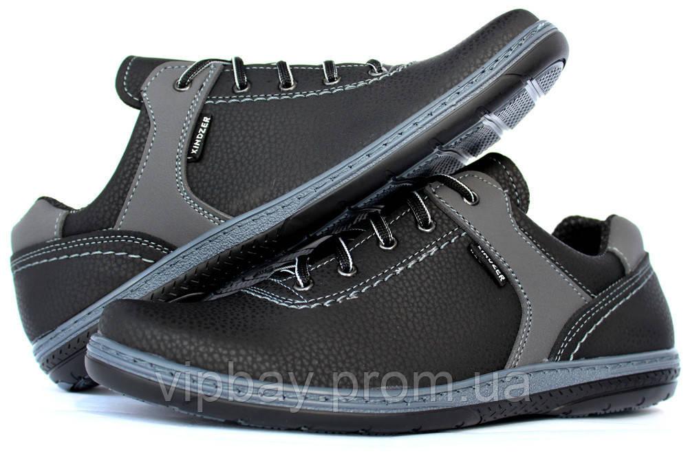 40 и 45 р Спортивные мужские туфли демисезонные на шнуровку (КТ-26чсрн