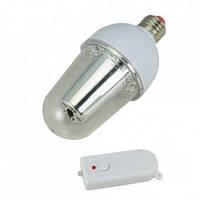 Лампочка аварийного освещения fy-007, с пультом ду в комплекте, цоколь е27, 15 smd led, до 6 часов работы