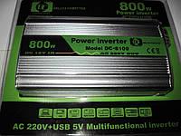 Инвертор, преобразователь, инвертор напряжения 12/220V - 800W
