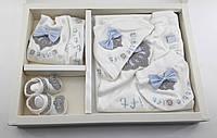 Набор для новорожденных 0-4 месяцев для крещения, подарок, выписка Турция
