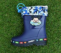 Детские резиновые сапоги с утеплителем Mickey Mouse синие