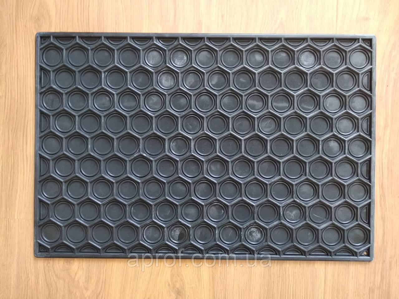 Коврик резиновый сотовый (40х60см) цельный