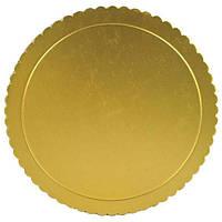 Уплотненная подложка золотая диаметр 35см