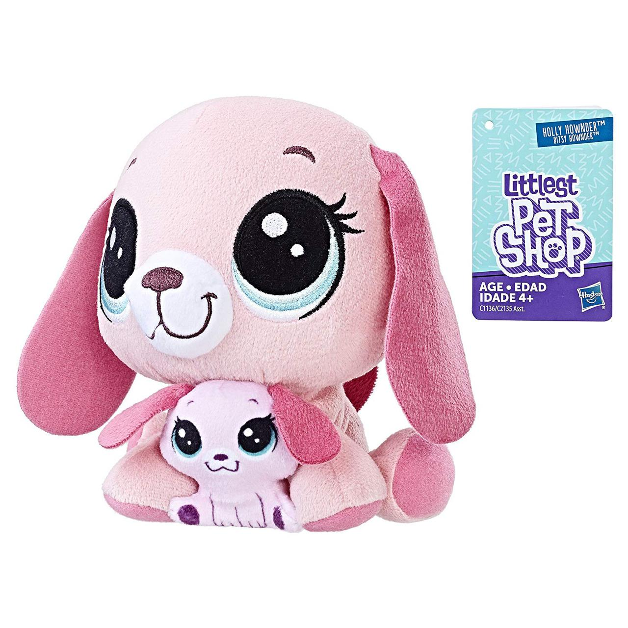 Мягкая игрушка Littlest Pet Shop Holly Hownder and Bitsy Hownder Pairs