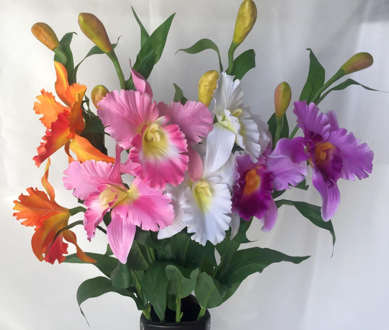 Искусственные орхидеи  Эпидендровые. род каттлея, дактилосталикс.