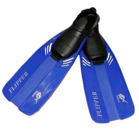 Ласты для плавания Dolvor Flipper р31-33 синие, фото 2