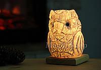 Соляная лампа HealthLamp Филин Большой 5 кг | Ночник из природной соли с регулятором яркости