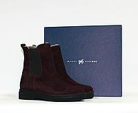 Modus Vivеndi женские зимние ботинки челси натуральная замша цигейка 36
