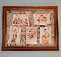 Доска с прищепками для фото и записок (50х40х2 см.)