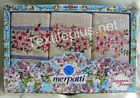 Полотенца кухонные вафельные - Merpatti - Flower - 3шт. 45*70 -100% хлопок - Турция -