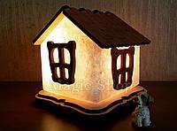 Соляная лампа HealthLamp Избушка | Ночник из природной соли с регулятором яркости