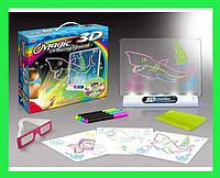 Набор 3D рисование с очками Magic 3D с маркерами!Акция, фото 1