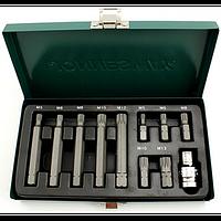 Набор вставок (бит) SPLINE М-профиль (30 и 75 мм), М5-М12, 11 пр.