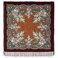 Златые дни 828-7, павлопосадский платок шерстяной с шелковой бахромой, фото 1