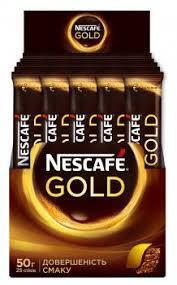 """Кофе """"Nescafe"""" растворимый """"Gold""""  стик 25шт*2г  , фото 2"""