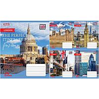 """Тетрадь 36 листов/линия 1 Вересня 762592 """"Perfect cities"""", 15 шт. в упаковке (Y)"""