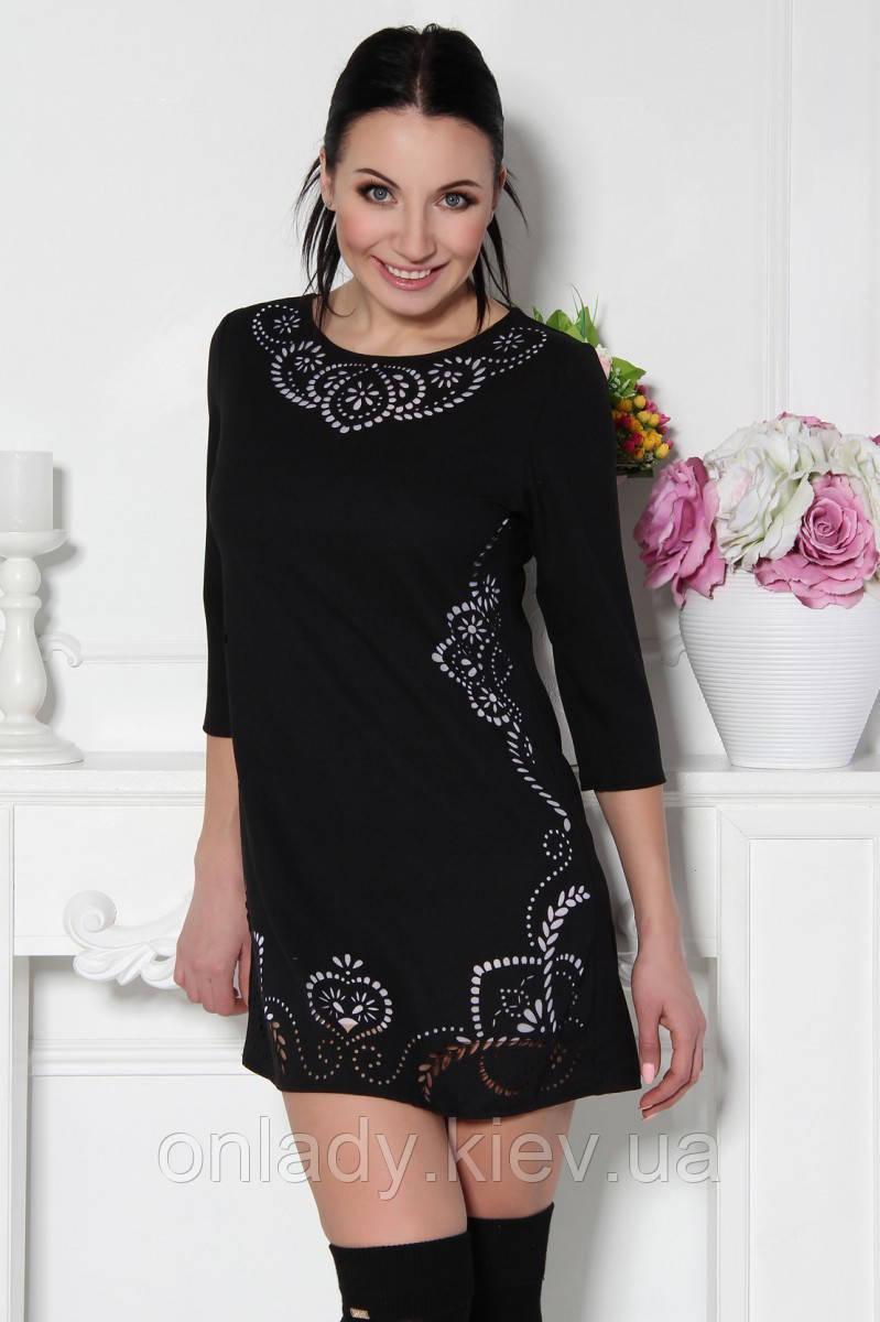 5fab3d2ecf99 Волшебное черное платье-туника с перфорацией (S M, M L), цена 599 ...