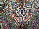 Сказочница 1763-5, павлопосадский платок шерстяной (двуниточная шерсть) с шелковой вязаной бахромой, фото 9