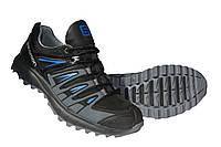 Мужские кроссовки Salomon Black кожаные черные , фото 1