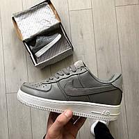 Женские кроссовки Nike Air Force кожаные  ( точная копия 1 в 1 оригинал)