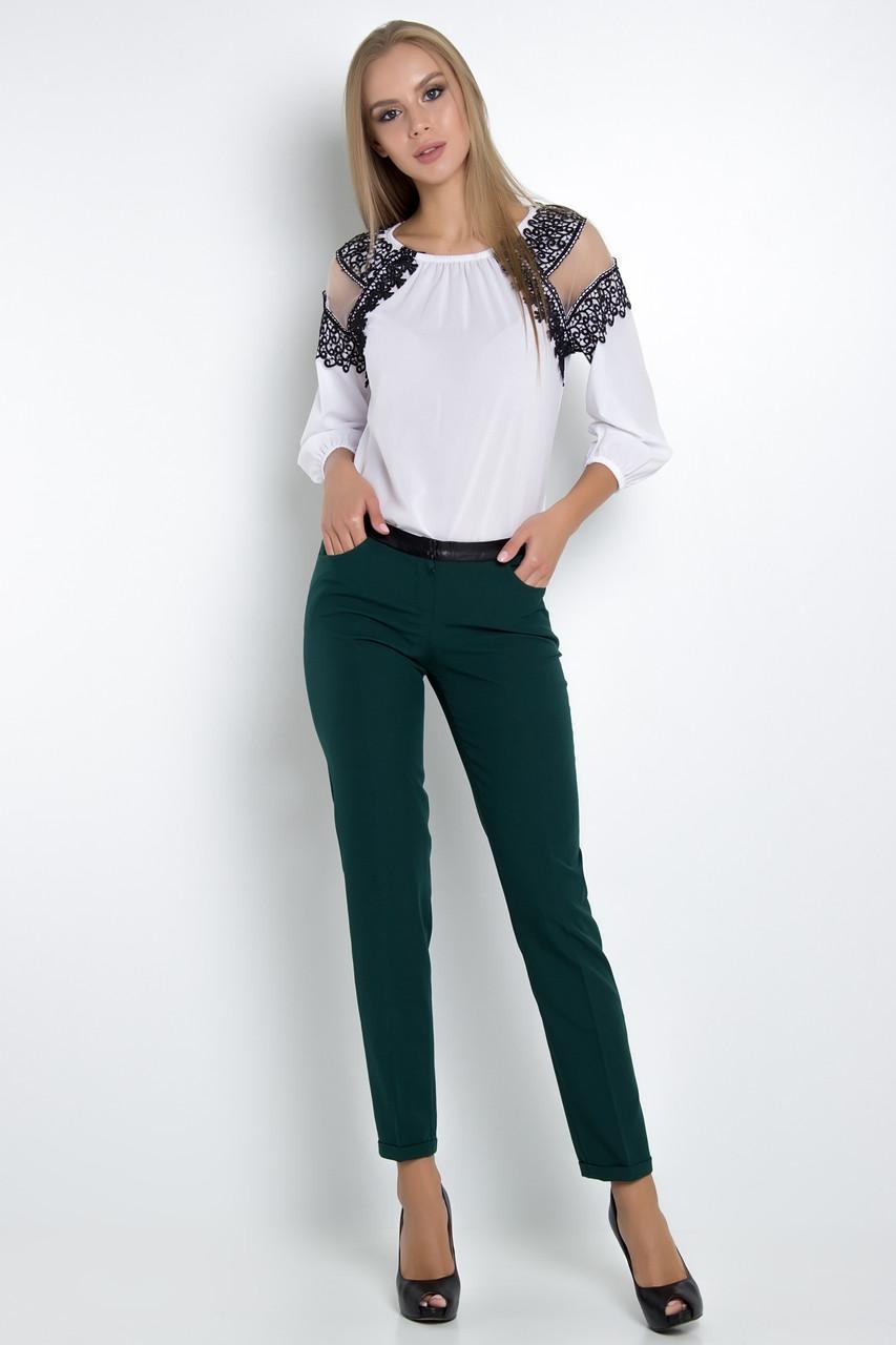 Красивая блузка в этническом стиле с рукавом-реглан длиной 3/4