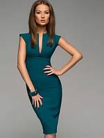 Зеленое вечернее миди платье (S, M, L, XL, XXL)
