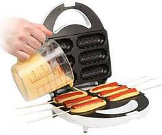 Аппарат для сосисок в тесте и другой выпечки на палочке livstar lsu-1215, на 6 изделий, антипригарное покрытие