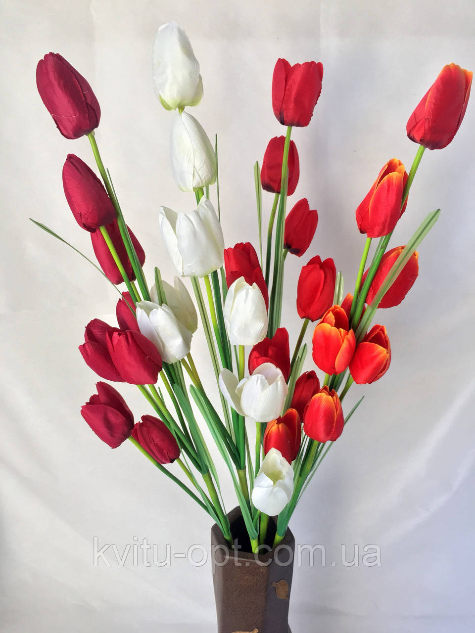 Искусственный тюльпан ветка, 8 головок