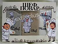 Полотенца кухонные вафельные - Nilteks - Chef - 3шт. 45*70 -100% хлопок - Турция -