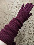 (50cm)Длинные вязание шерсти трикотаж  женские перчатки только оптом, фото 2