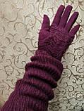 (50cm)Длинные вязание шерсти трикотаж  женские перчатки только оптом, фото 3
