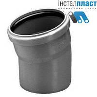 Колено (отвод) д.110х15 для канализации Инсталпласт