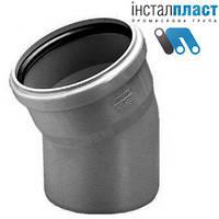 Колено (отвод) д.110х30 для канализации Инсталпласт