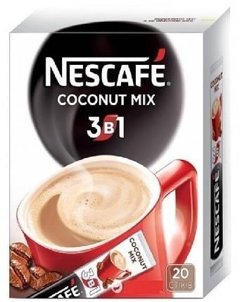 """Кофе """"Nescafe"""" 3 в 1 Coconut 20шт, фото 2"""