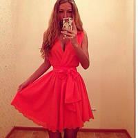 Кокетливое платье с поясом, фото 1