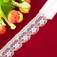 "Кружево стрейчевое, эластичноее ""030"", ширина 2,3см (цена за 1м) Цвет - Айвори (заказ - кратно метру, фото 1"