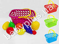 Корзинка для покупок пластиковая с фруктами