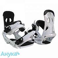 Крепление для сноуборда Santa Cruz Sigma EMY White S-M бело-черный c0bd249dba7c1
