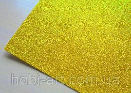 А4 Фоаміран з глітером  №  02 золотистий світлий