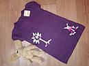 Вязанное платье с вышивкой дерево и зайчик на грибочке (Размер 4Т) Crazy8 (США), фото 2