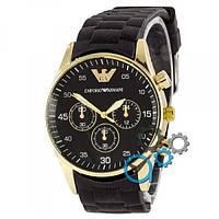 Наручные часы Emporio Armani Silicone Gold-Black