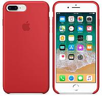 Силиконовый чехол Apple Silicone Case IPHONE 7Plus/8 Plus (Red) + Стекло !!!