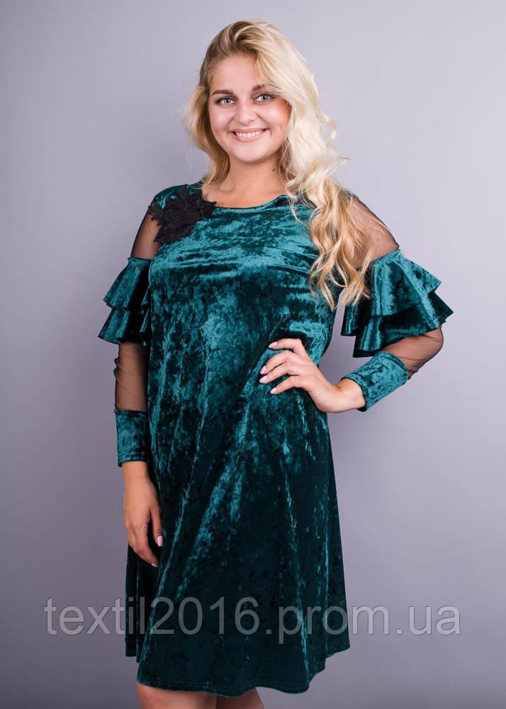 Платье Юнона бархат изумруд
