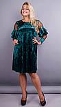 Платье Юнона бархат изумруд , фото 2