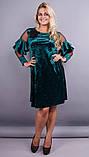 Платье Юнона бархат изумруд , фото 3
