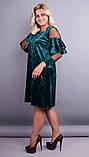 Платье Юнона бархат изумруд , фото 4