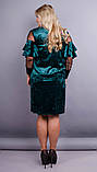Платье Юнона бархат изумруд , фото 5
