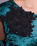 Платье Юнона бархат изумруд , фото 6