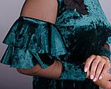 Платье Юнона бархат изумруд , фото 7